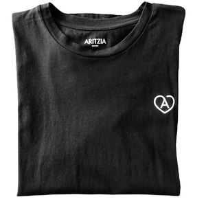 Aritzia Black T-shirt. Healthcare thank you heart